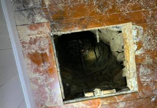 While helping a friend move in Christopher Town found himself 30 feet below the house, treading water in an old well.