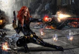 Olivia Wilde as Black Widow is one fine piece of a...rt.