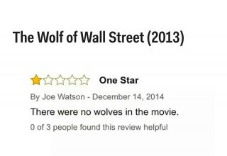 You would think The Wolf Of Wall Street has at least one wolf...