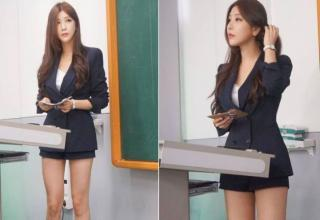 "She was even called ""The Hottest Teacher in Korea"" by some."