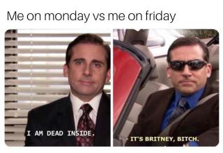 "Funny memes for those who can't bear the fact that it's not Friday yet.  Check out more funny  memes about work with <a href=""https://www.ebaumsworld.com/pictures/30-work-memes-that-come-with-a-terrible-realization-its-monday/86063355/"">Monday Work Memes</a>."