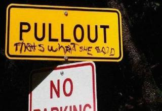That's some smart-ass graffiti right there.