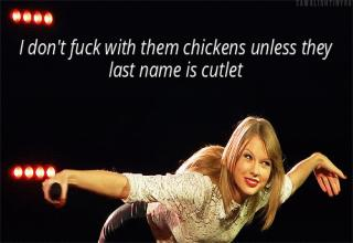 A collection of Taylor Swift gifs mashed with Nicki Minaj lyrics that are strangely satisfying.