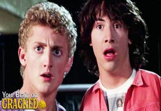 a photo from the original bill and ted