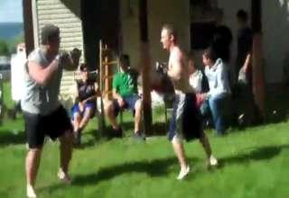 Big Guy Vs. Little Guy Fight - Video | eBaum's World