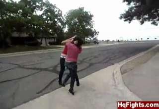 fight girl Ghetto black