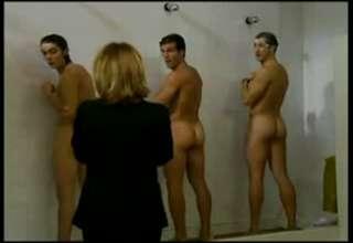 Men and women shower naked