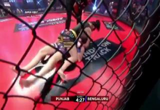 video of conerman saving a fighter  | Cornerman Jumps Into The Cage to Save Fighter from Terrible Referee