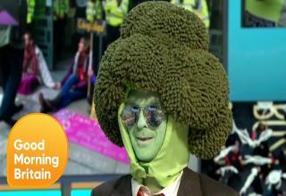 mr broccoli man goes on british talk show