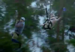 Geico Commercial - Ziplining Pig Screams Wee - Video